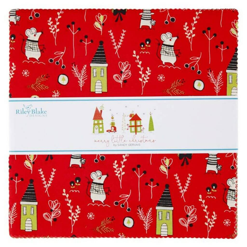 Merry Little Christmas 10 in. Fabric Square Pack available at Nancy Zieman Productions at ShopNZP.com