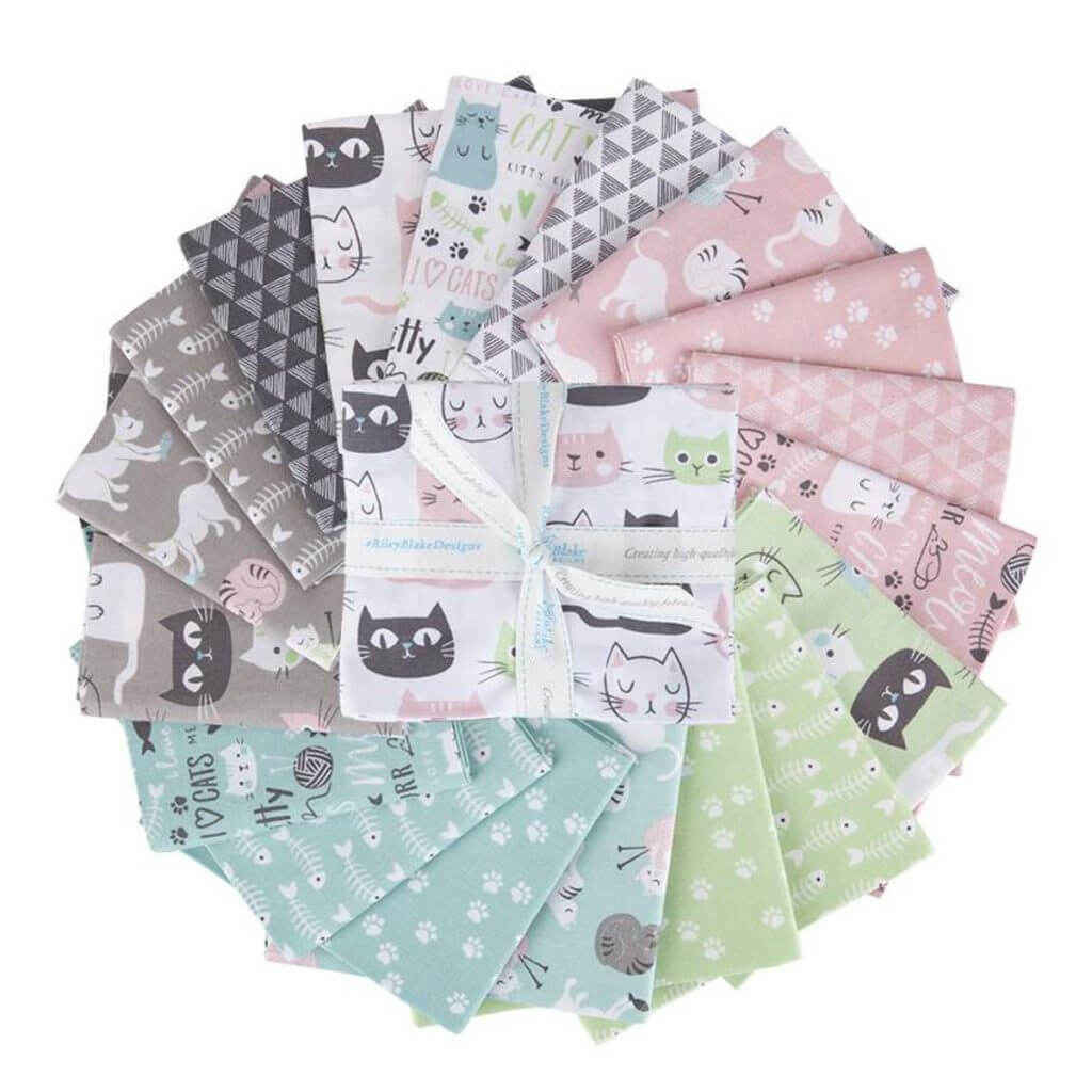 Purrfect Day Fat Quarter Bundle available at Nancy Zieman Productions at ShopNZP.com