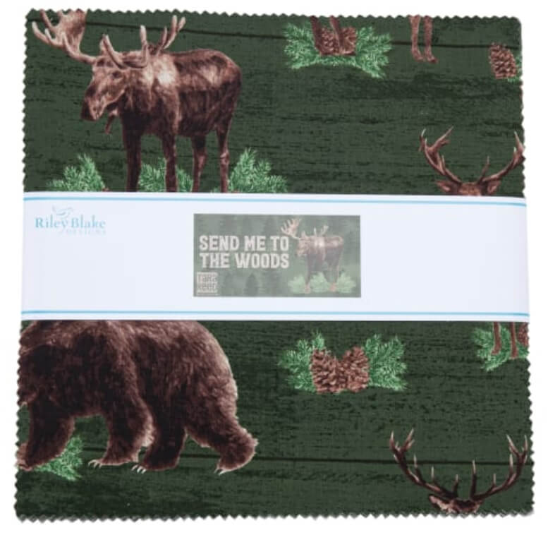 Send me to the Woods 10 in. Fabric Square Pack available at Nancy Zieman Productions at ShopNZP.com