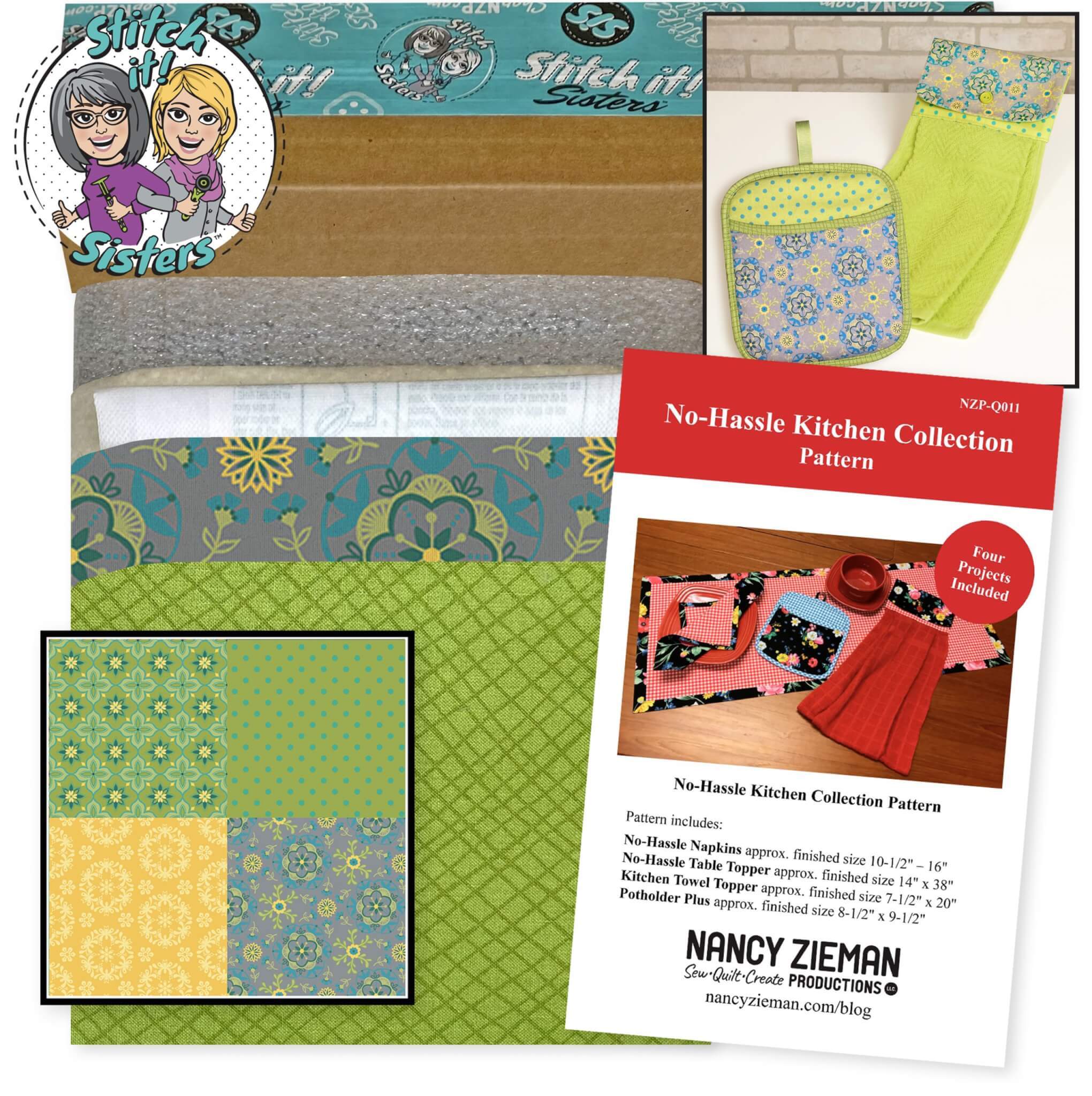 Wildflower Boutique Potholder Plus and Towel Topper Bundle Box available at Nancy Zieman Productions at ShopNZP.com