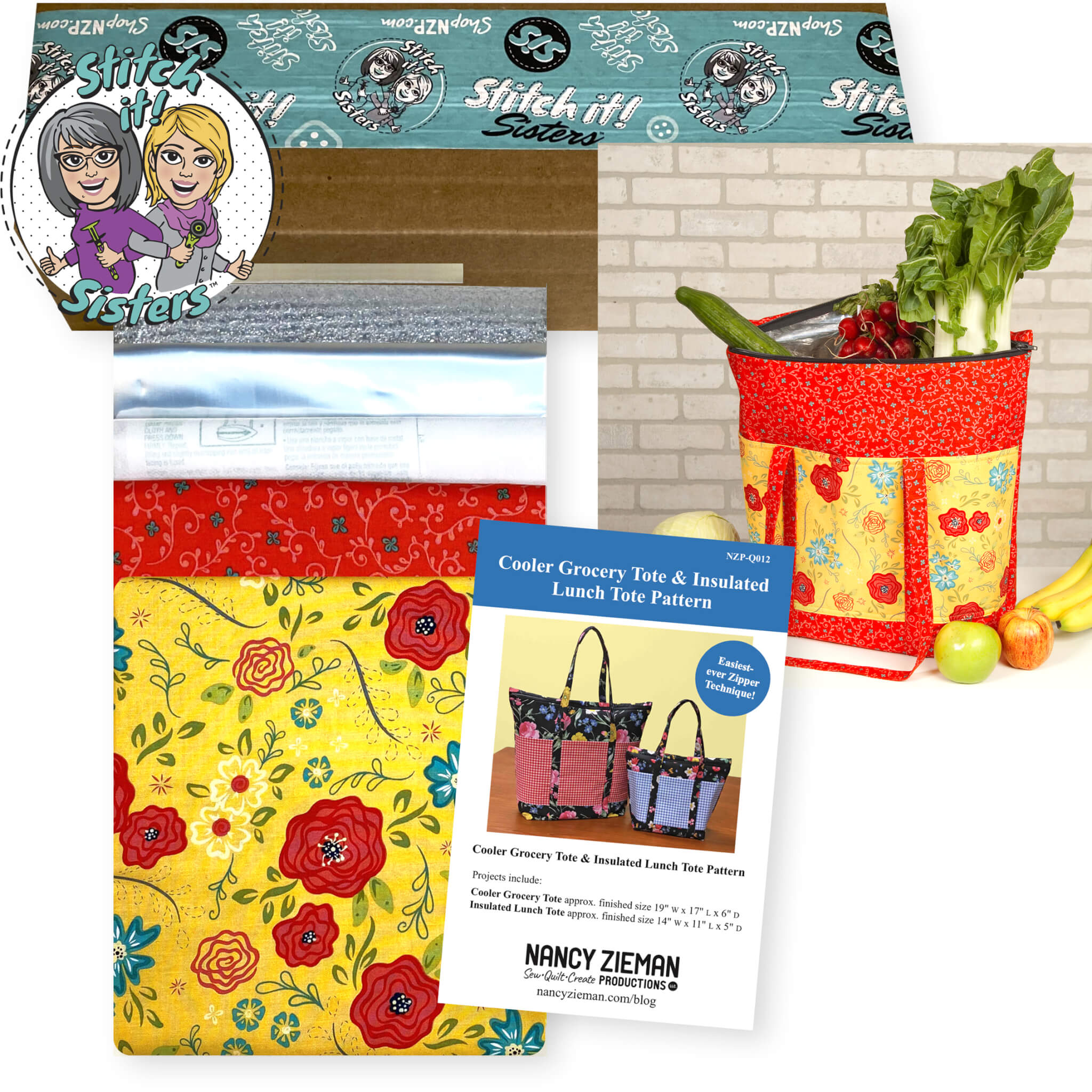 Cooler Grocery Tote Sewing Project Bundle Box available at Nancy Zieman Productions at ShopNZP.com