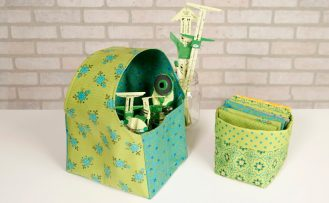 Boutique Fun Fabric Caddy Sewing Tutorial at The Nancy Zieman Productions Blog