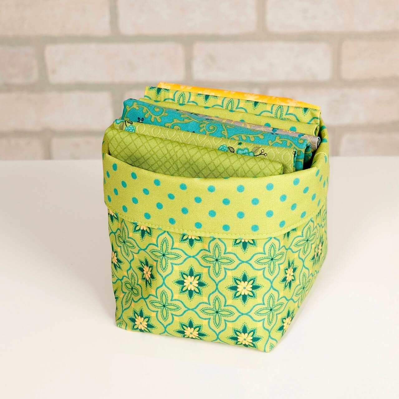 Boutique Fun Fabric Bin Sewing Tutorial at The Nancy Zieman Productions Blog