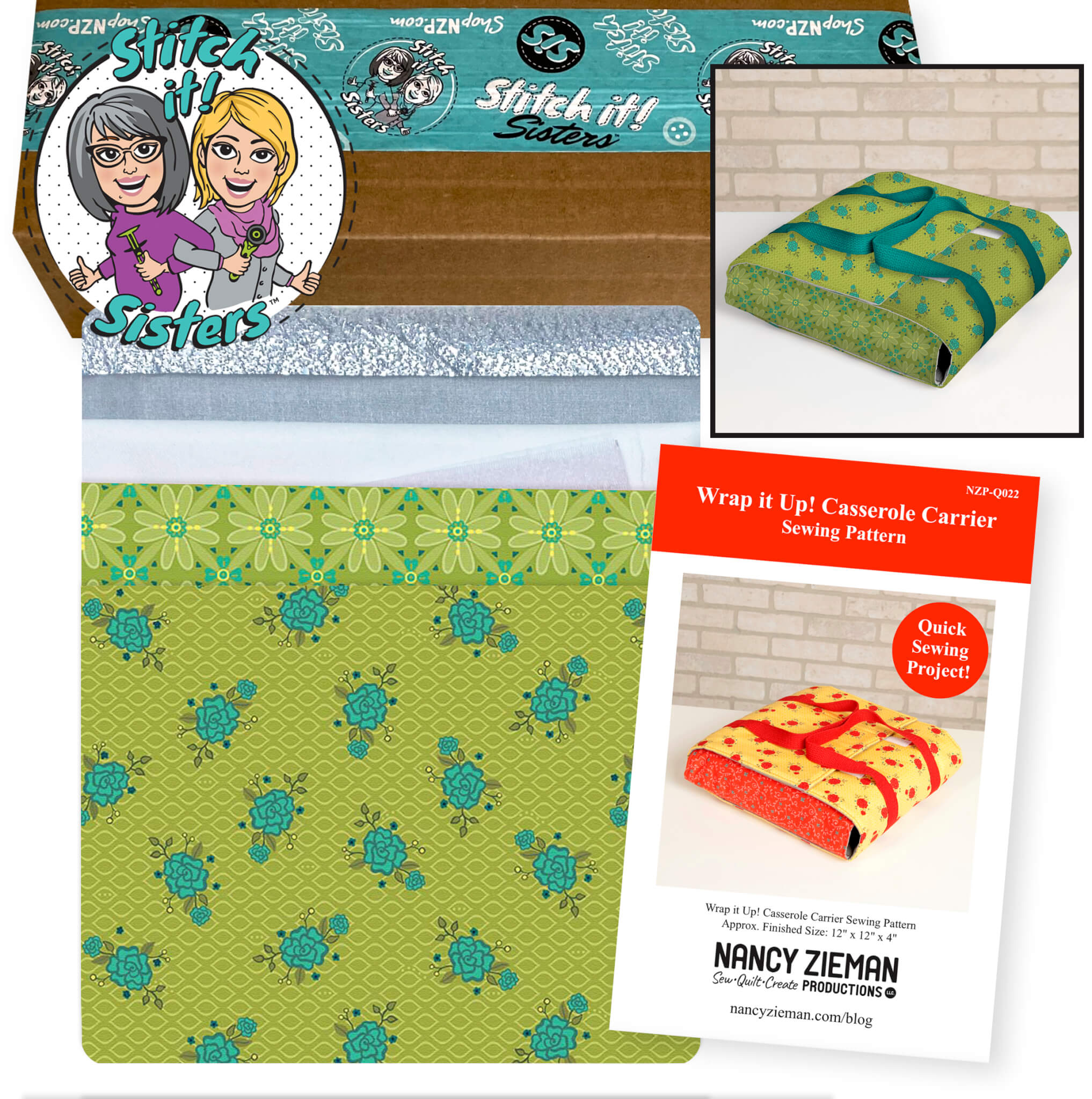 Wrap It Up! Casserole Carrier Sewing Project Bundle Box Kits available at Nancy Zieman Productions at ShopNZP.com