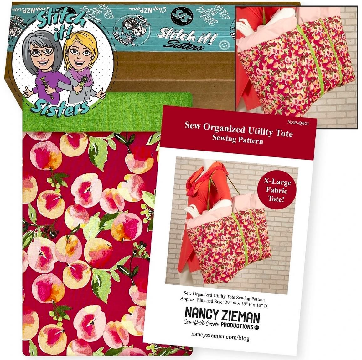 Sew Organized Utility Tote Bundle Box—Red Available at Nancy Zieman Productions ShopNZP.com