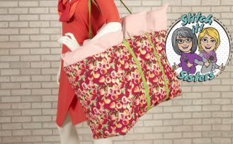 Sew Organized Utility Tote Tutorial Video by The Stitch it Sisters at The Nancy Zieman Productions Blog