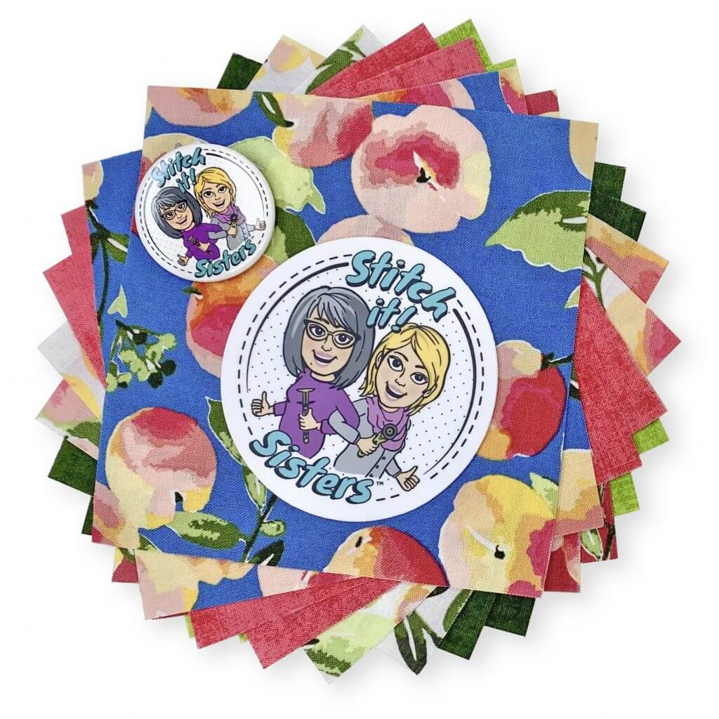 Stitch it Sisters 5 inch Fabric Short Stack with SS Button and Sticker Giveaway at The NZP Nancy Zieman Productions Blog 1