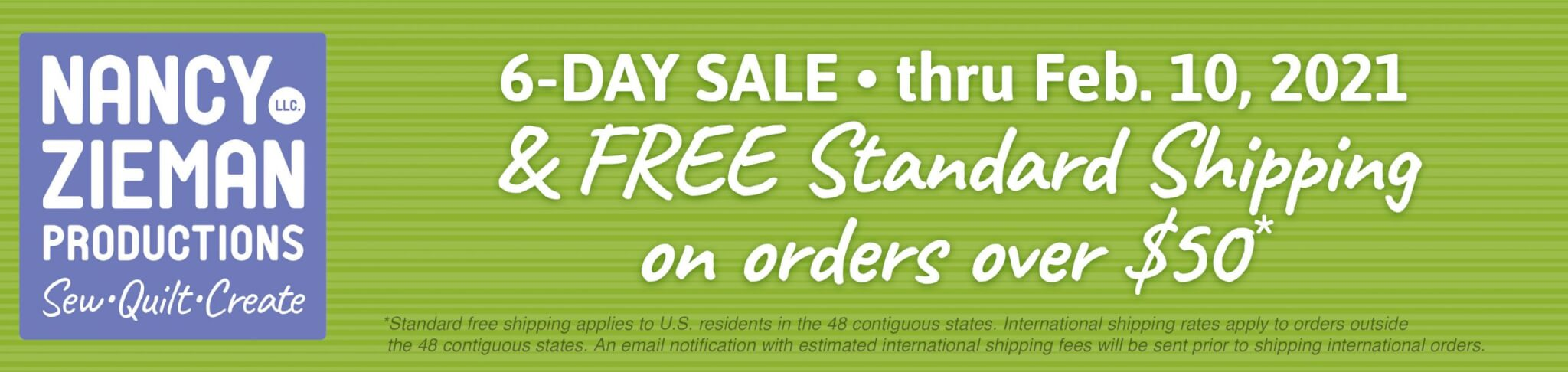 ShopNZP 6-Day Sale & FREE Standard Shipping on orders over $50 through Feb. 10, 2021 at ShopNZP.com
