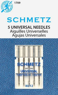 Schmetz Chrome Universal Needles Size 80/12 available at Nancy Zieman Productions at ShopNZP.com