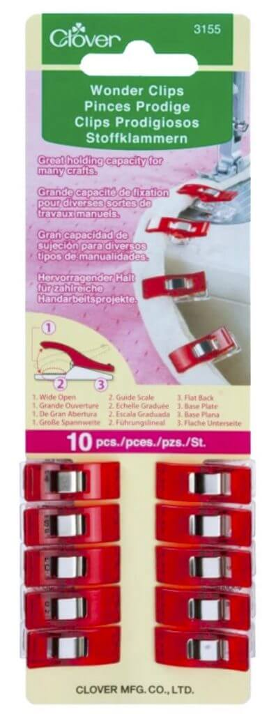 Clover's Wonder Clips, 10 pc. - Red