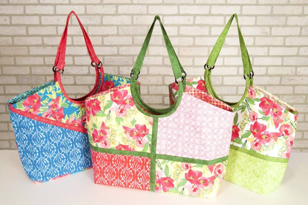 Colorblocked Shoulder Bag Sewing Tutorial by the Stitch it! Sisters at the Nancy Zieman Productions Blog