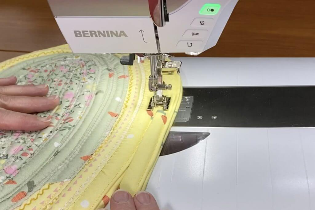 Easter Egg Hunt Table Mat Sewing Tutorial at the Nancy Zieman Blog