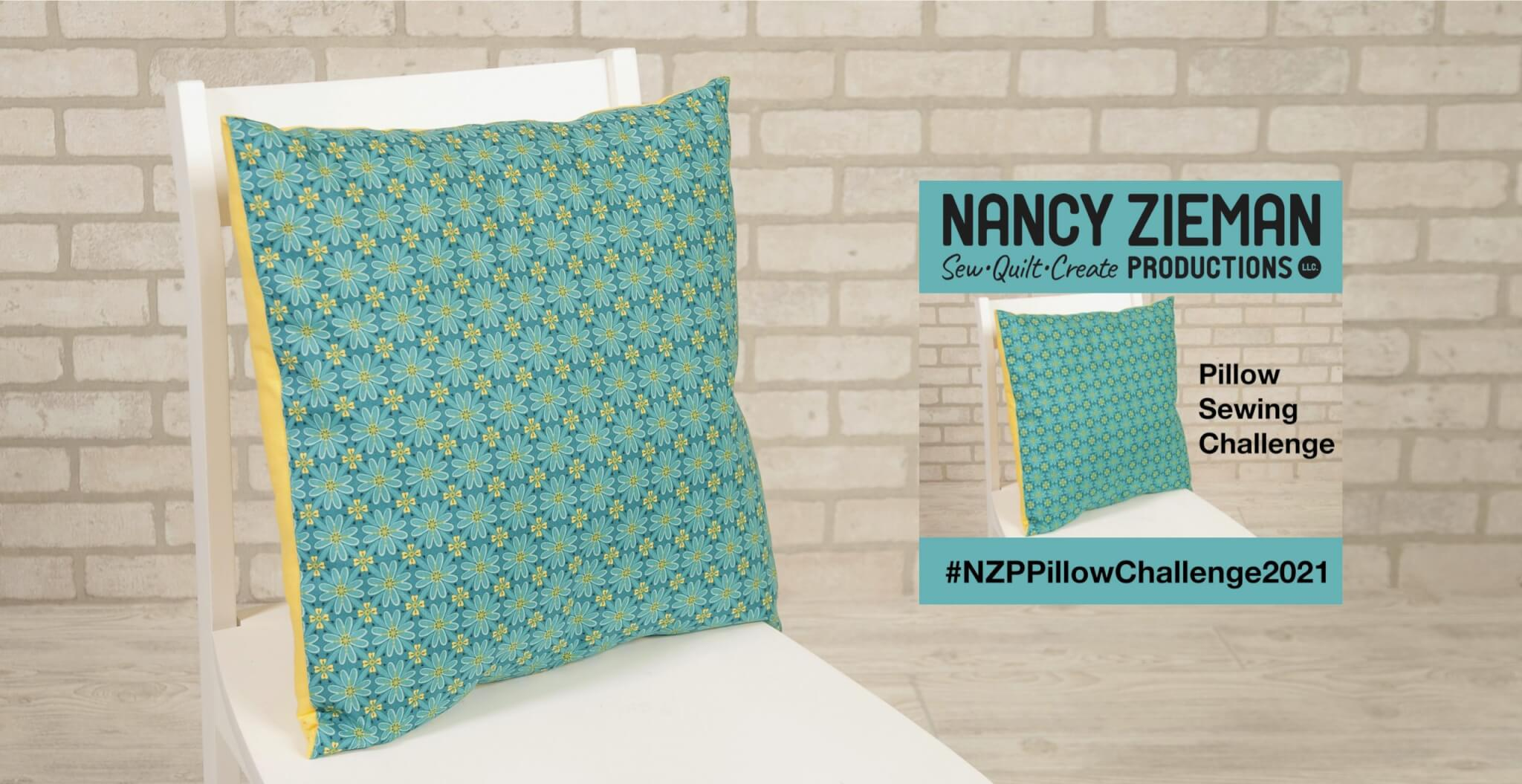 Team NZP Announces 2021 Pillow Sewing Challenge at the Nancy Zieman Productions Blog