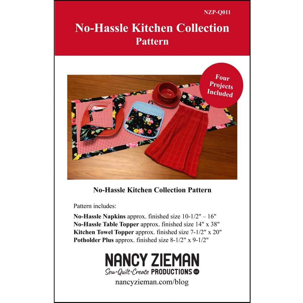 No-Hassle Kitchen Collection Pattern available at Nancy Zieman Productions at ShopNZP.com