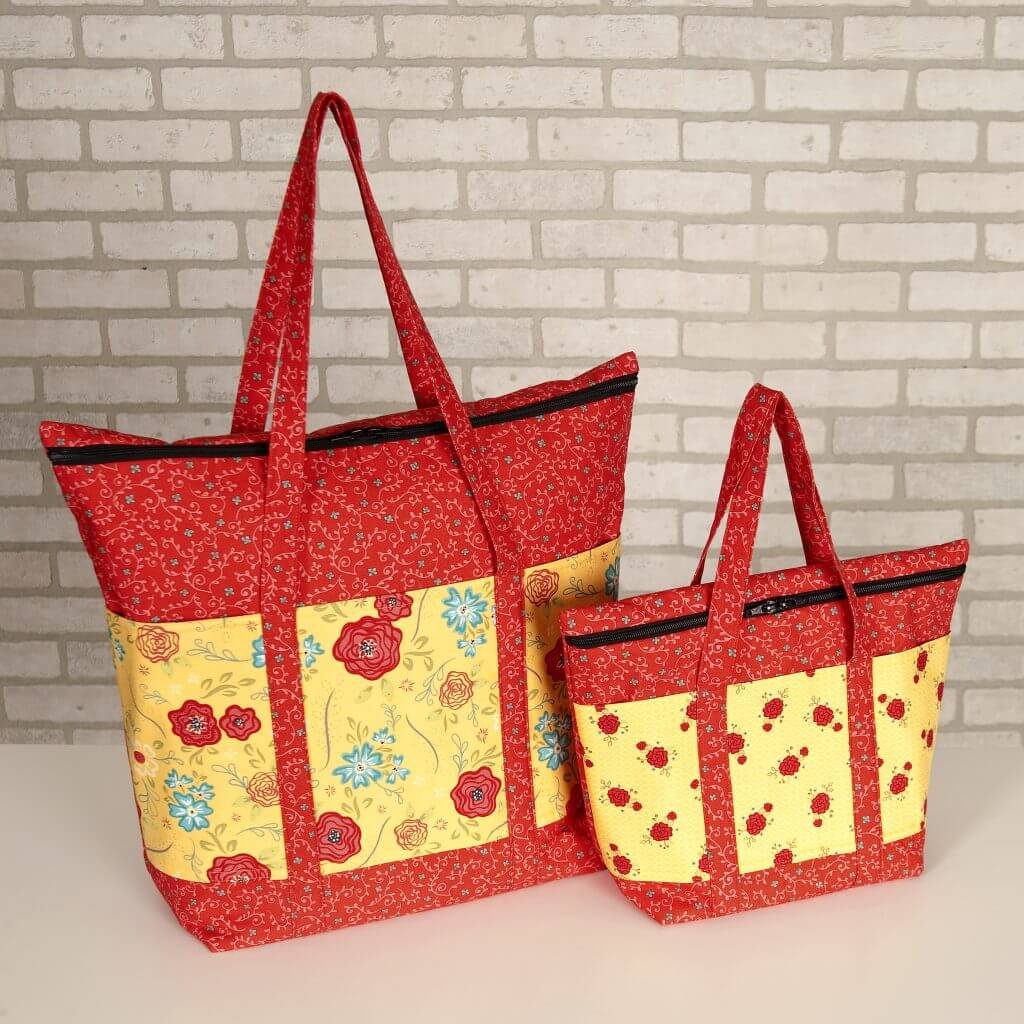 Exclusive Cooler Grocery Tote and Insulated Lunch Tote Bundle Boxes available at Nancy Zieman Productions ShopNZP.com