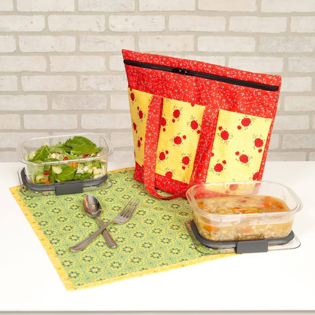Insulated Lunch Tote Sewing Tutorial and NEW! Wildflower Boutique Bundle Boxes available at Nancy Zieman Productions at ShopNZP.com