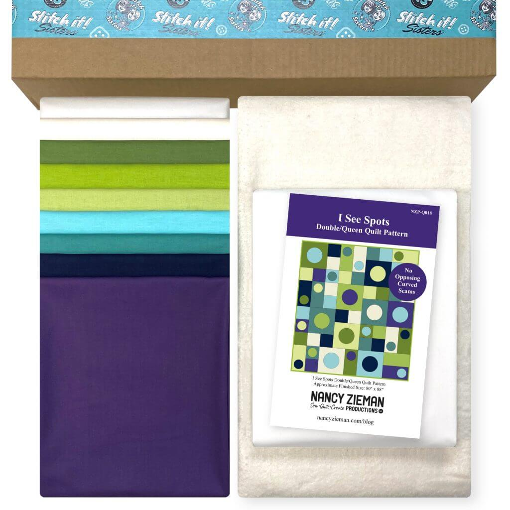 I See Spots Quilt Bundle Box with Backing & Batting available at Nancy Zieman Productions at ShopNZP.com