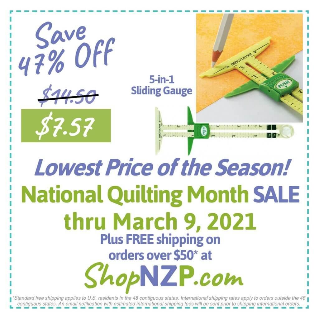 Save 47% Off 5-in-1 Sliding Gauge at ShopNZP.com thru March 9, 2021