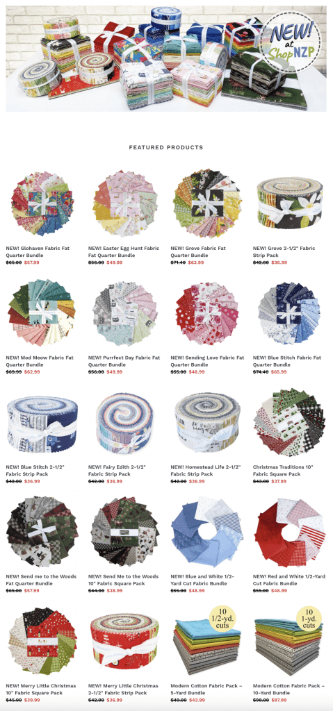 Shop NEW! Quilting Precut Fabric Bundles and Fat Quarter Packs at Nancy Zieman Productions at ShopNZP.com
