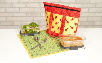 NEW! Insulated Lunch Tote Sewing Tutorial and NEW! Wildflower Boutique Bundle Boxes available at Nancy Zieman Productions at ShopNZP.com