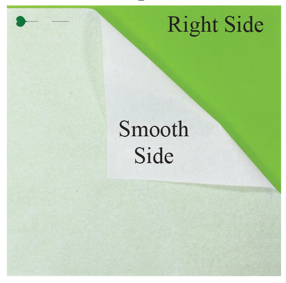smooth side of fusible interfacing to right side of fabric I See Spots Quilt Bundle