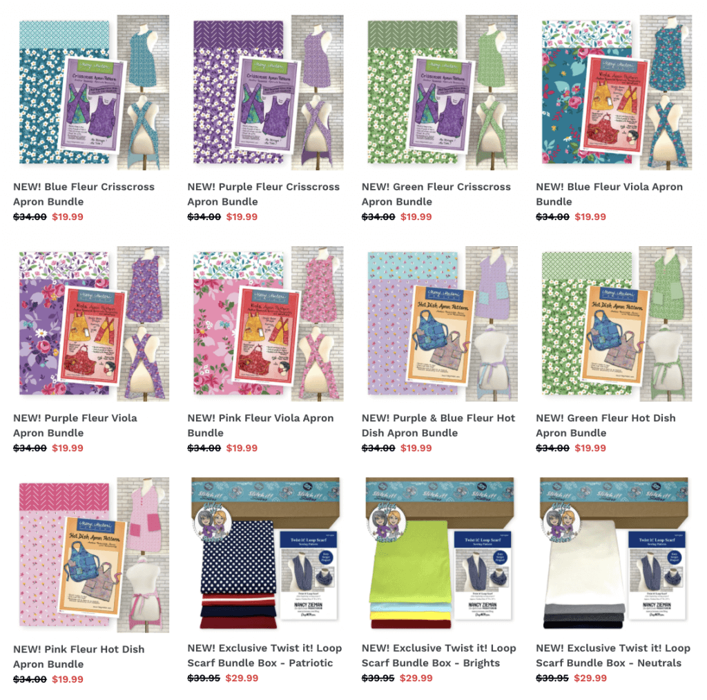 New Sewing Kit Project Bundle Boxes available at Nancy Zieman Productions at ShopNZP.com