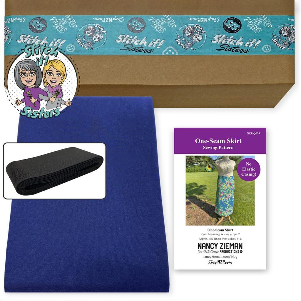 One Seam Skirt Sewing Project Bundle Box available at Nancy Zieman Productions at ShopNZP.com