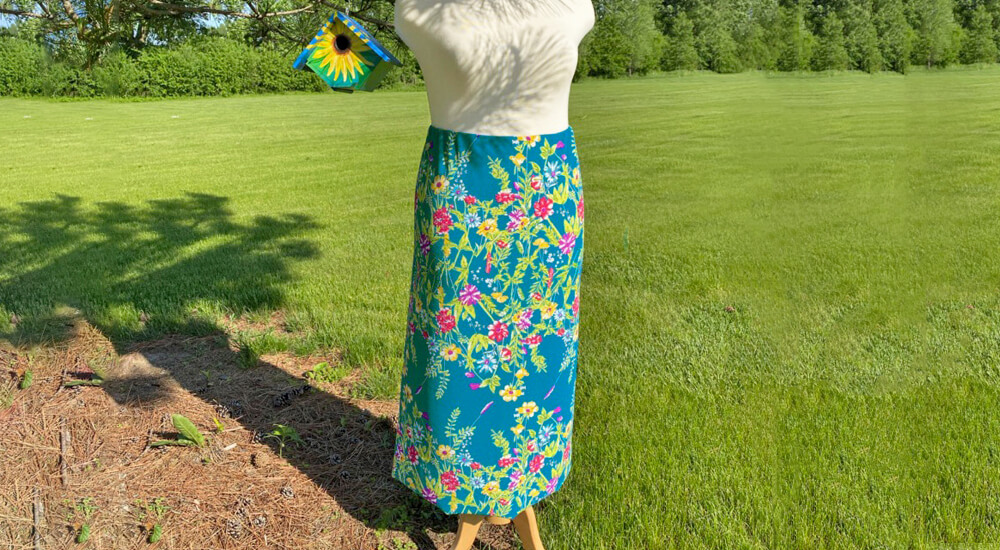 Stitch it Sisters One Seam Skirt Sewing Tutorial at The Nancy Zieman Productions Blog