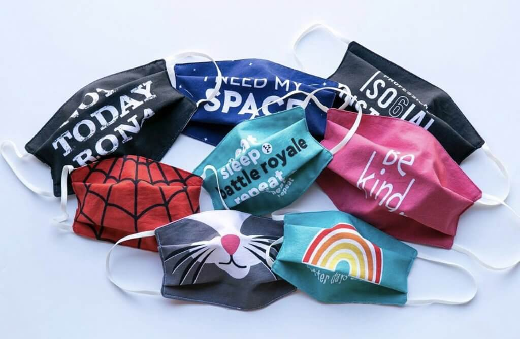 Preprinted Face Mask Fabric Panel for Sewing Masks available at Nancy Zieman Productions at ShopNZP.com