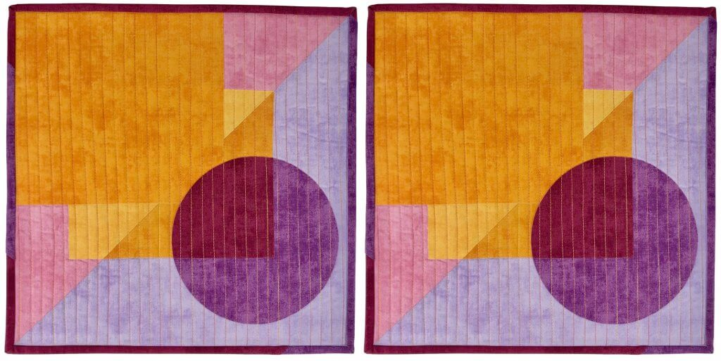 2021 Mod Mini Quilted Wall Hanging Tutorial at the Nancy Zieman Productions Blog