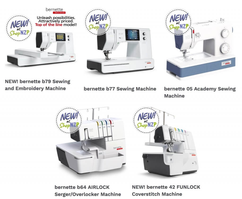 Shop NEW! bernette Sewing, Sewing and Embroidery, Serger/Overlocker and Coverstitch Machines at ShopNZP.com