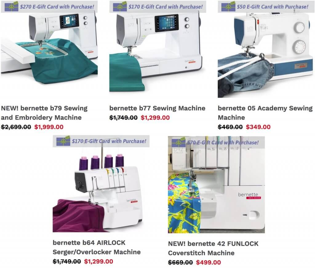 NEW! bernette Sewing Machines and Sergers Available at Nancy Zieman Productions at ShopNZP.com