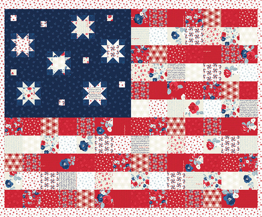 Land of Liberty Cotton Quilting Fabrics by Riley Blake Designs Available at Nancy Zieman Productions at ShopNZP.com