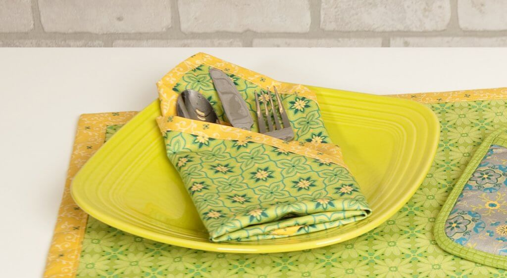Sew No-Hassle Napkins with our Convenient Sewing Project Bundle Box available at Nancy Zieman Productions at ShopNZP.com