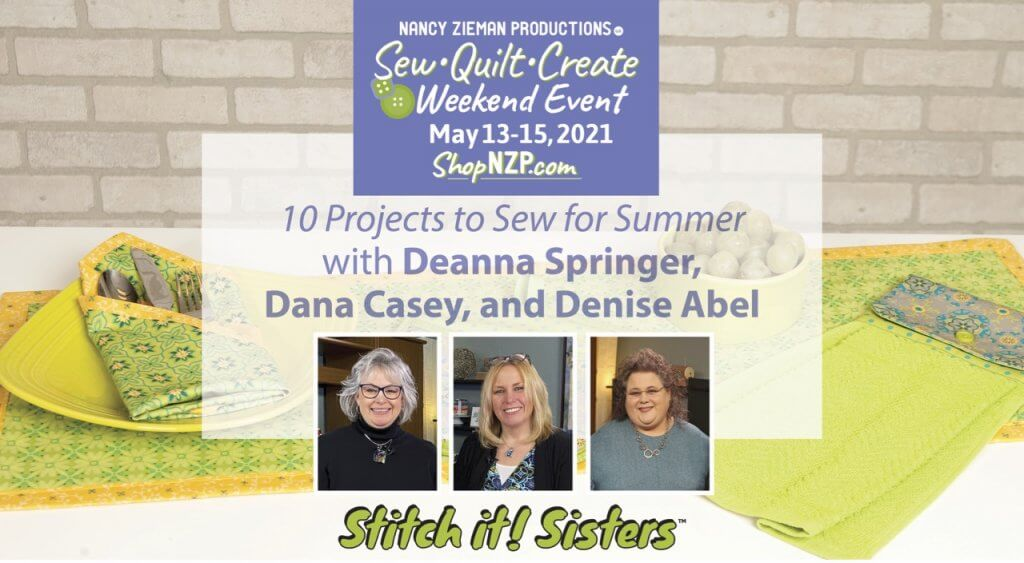 Nancy Zieman Productions Sew Quilt Create Weekend Event in May