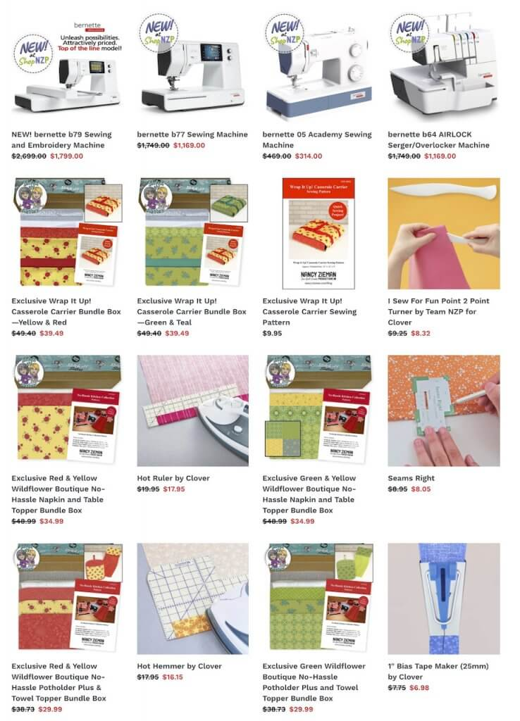 Shop the Nancy Zieman Productions Sew Quilt Create Weekend Event SALE in May at ShopNZP.com