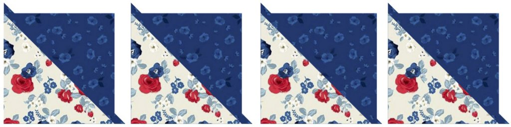 NEW! Stitch it! Sisters Patriotic Quarter-Square Triangles Table Runner available at Nancy Zieman Productions at ShopNZP.com