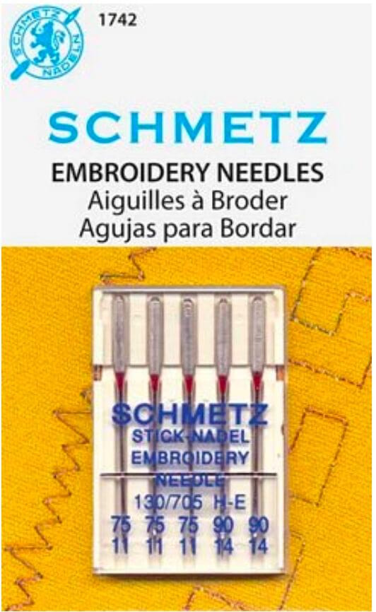 Schmetz Embroidery Needles Assortment Available at Nancy Zieman Productions ShopNZP.com