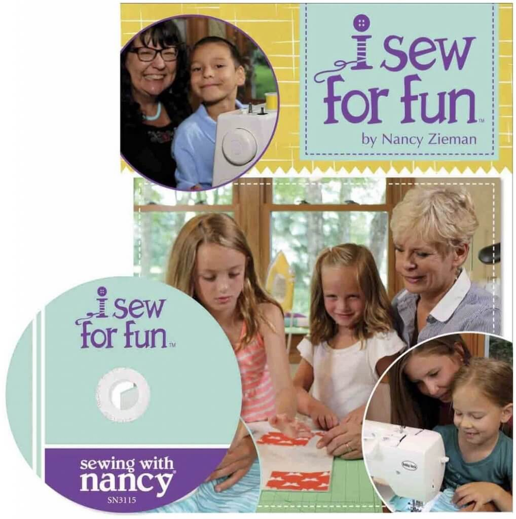 I Sew For Fun Book with DVD by Nancy Zieman Available at Nancy Zieman Productions at ShopNZP.com