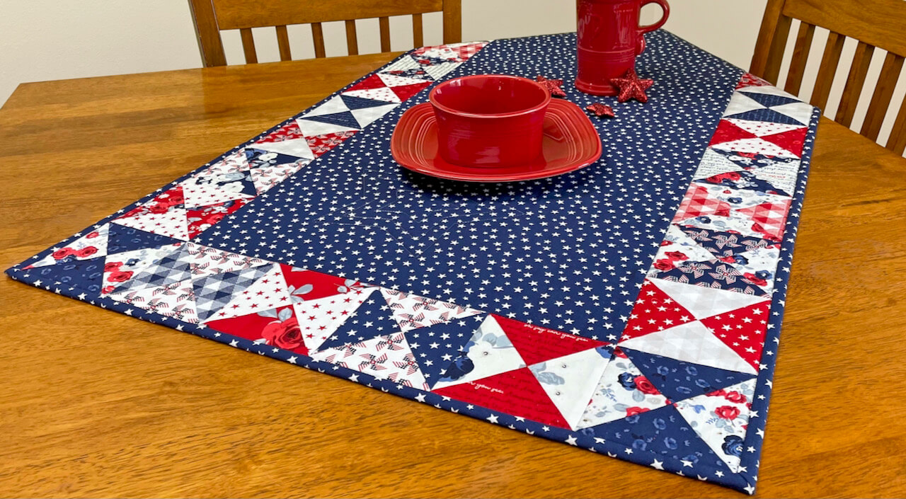 NEW! Sew A Celebration Quarter-Square Triangles Table Runner Sewing Pattern available at Nancy Zieman Productions at ShopNZP.co