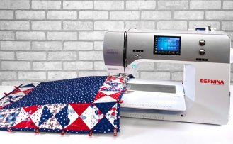 NEW! Sew A Celebration Quarter Square Triangles Table Runner Sewing Tutorial at The Nancy Zieman Productions Blog