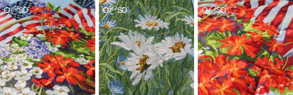 NEW! Summer Glory Tiling Scene by Dona Gelsinger for OESD available at Nancy Zieman Productions at ShopNZP.com