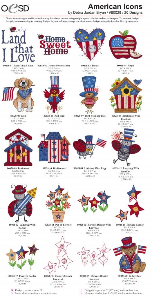 OESD's #80028 American Icons at Nancy Zieman Productions at ShopNZP.com