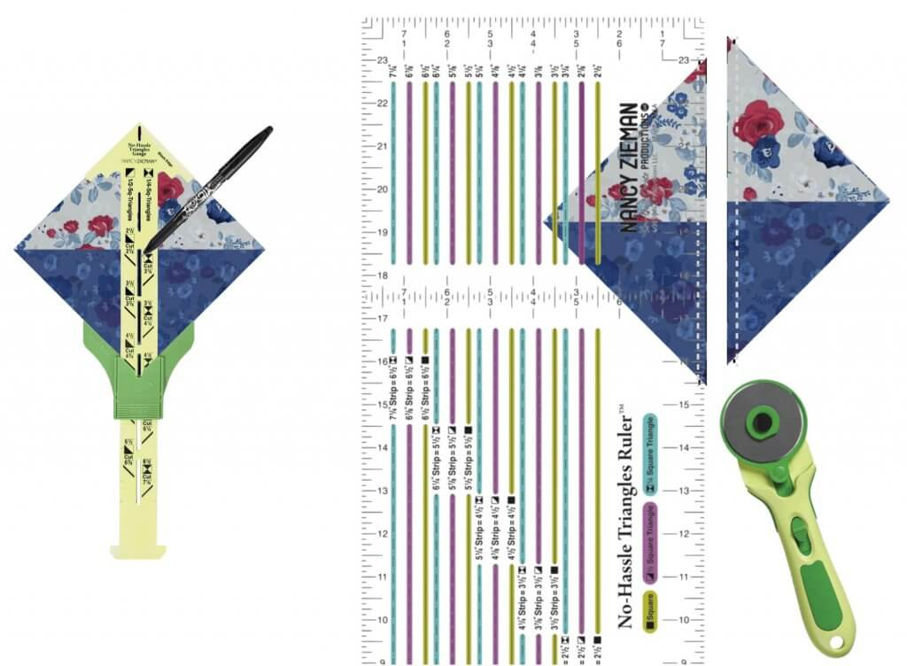NEW! Exclusive Sew A Celebration NEW! Exclusive Sew A Celebration Quarter-Square Triangles Table Runner Bundle Box available at Nancy Zieman Productions at ShopNZP.comQuarter-Square Triangles Table Runner Bundle Box