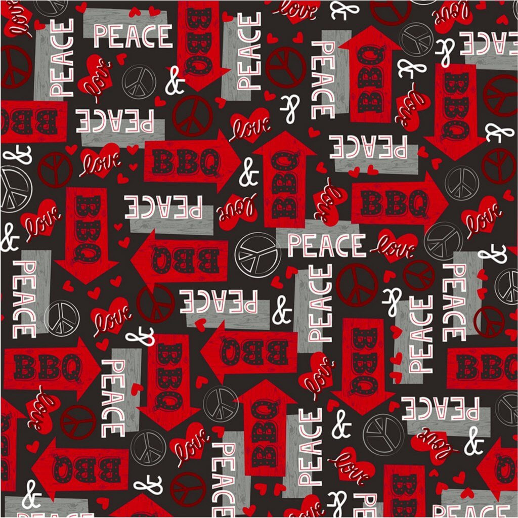 NEW! Peace Love BBQ Fabrics now available at Nancy Zieman Productions at ShopNZP.com