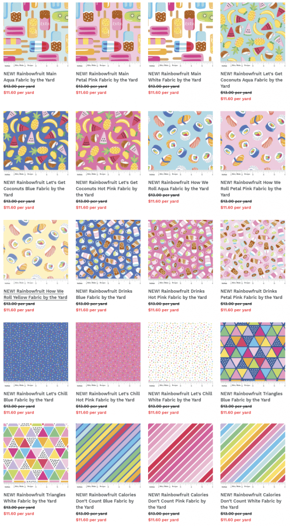 NEW Rainbowfruit Fabrics by Riley Blake Designs now available at Nancy Zieman Productions at ShopNZP.com
