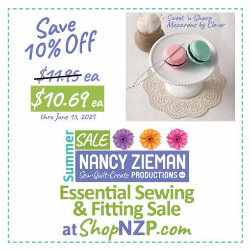 Save 10 Percent on NEW! Sweet 'n Sharp Macarons by Clover at Nancy Zieman Production at ShopNZP.com thru June 15, 2021