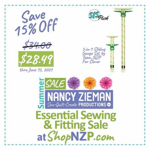 Save 15 Percent on 5-in-1 Sliding Gauge Set by Team NZP for Clover at Nancy Zieman Production at ShopNZP.com thru June 15, 2021