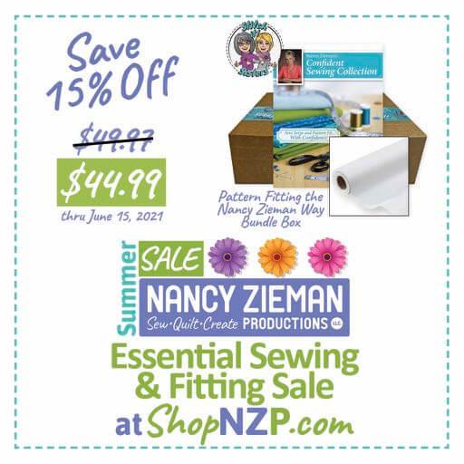 Save 15 Percent on Pattern Fitting the Nancy Zieman Way Bundle Box at Nancy Zieman Production at ShopNZP.com thru June 15, 2021