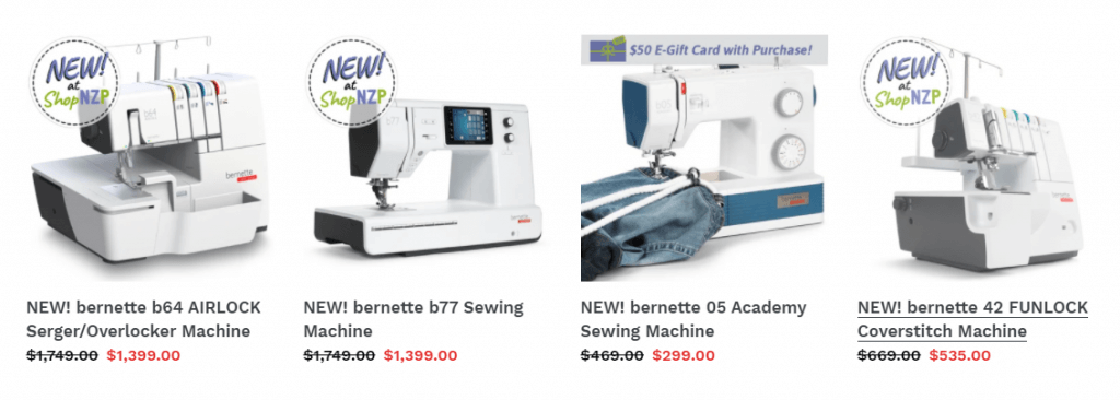 NEW! bernette Sewing, Sewing/Embroidery, Serger/Overlock and Coverstitch Machines at ShopNZP.com
